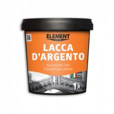 Декоративный лак ELEMENT Decor Lacca D`Argento 1л