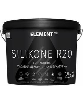 Штукатурка силиконовая Element PRO Silikone R20 короед (25 кг) 2 мм