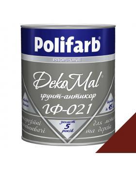 """Грунт для металла """"Polifarb"""" ГФ-021 DekoMal красно-корич. 2.7 кг"""