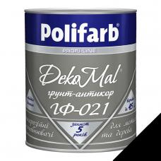 "Грунт для металла ""Polifarb"" ГФ-021 DekoMal черный 0,9 кг"