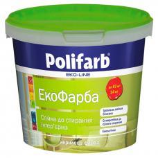 Акриловая краска Polifarb Экокраска, 14кг