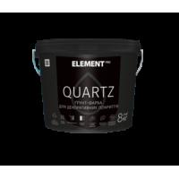 Грунт-краска  Element PRO Quartz структурная серая 25 кг