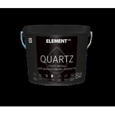 Грунт-краска  Element PRO Quartz структурная серая 8 кг