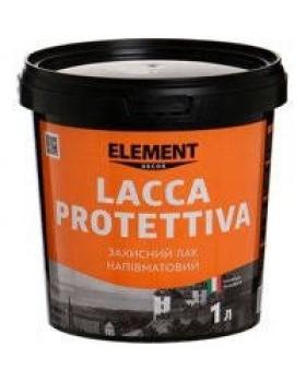 """Защитный полуматовый лак LACCA PROTETTIVA """"ELEMENT DECOR"""" 1л"""