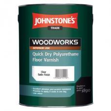 Лак JOHNSTONE'S Quick Dry Polyurethane Floor Varnish акрило-полиуретановый (полуматовый), 2,5 л
