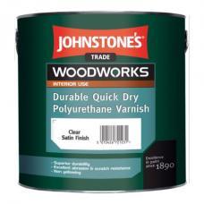 Лак JOHNSTONE'S Quick Dry Polyurethane Varnish акрило-полиуретановый (полуматовый), 0,75 л