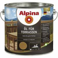 Масло ALPINA для террас 2,5л прозрачный (под колеровку)