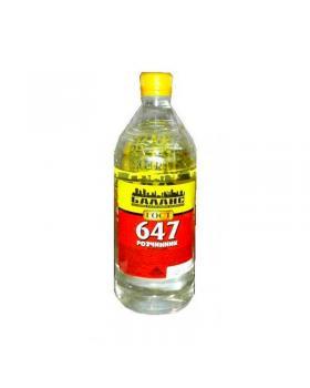 Растворитель Р-647 БП Баланс 0,8 л (530 г) уп. 19 шт