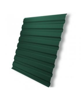 Профнастил ПС-10 (1500х1200х0,4) РЕ (зелений)  с пленкой (1,8 м.кв)