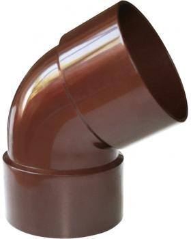 """Колено водосточной трубы двухраструбное """"Profil"""" коричневое 130 х 100 мм"""