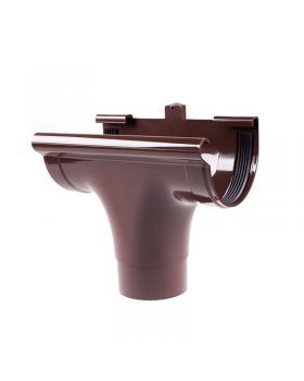 """Ливнеприёмник """"Profil"""" проходной коричневый (130 мм)"""