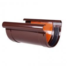 Соединитель желоба коричневый Profil 130 мм