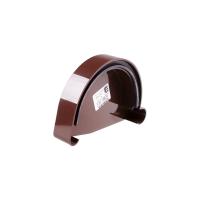 "Заглушка желоба левая коричневая ""Profil"" (130 мм)"