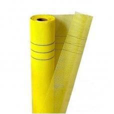 Сетка фасадная щелочеустойчивая 5 х 5 мм 160 г/кв.м (рул) желтая