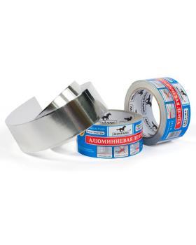 Алюминиевая лента MUSTANG 50мм х 25м алюминий
