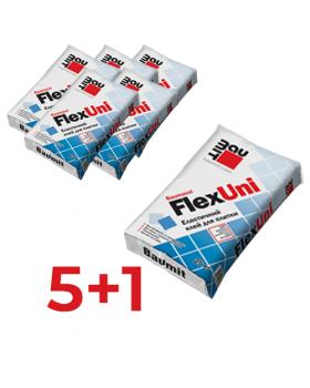 АКЦИЯ ! Клей эластичный универсальный Baumit FlexUni 25 кг (5+1)