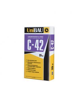 Самовыравнивающаяся смесь UNIBAU С-42, толщина 3-15 мм