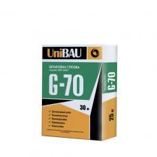 Штукатурка гипсовая стартовая, для внутренних работ UNIBAU G-70, 30кг